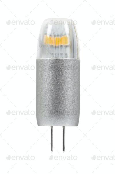 Modern G4 led bulb on white background