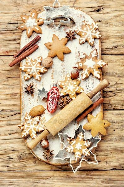 Tasty symbol Christmas cookies