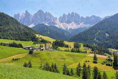Mountain views near Santa Magdalena, Val di Funes, Dolomite Alps, Italy