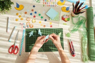 Creation of Origami Cranes