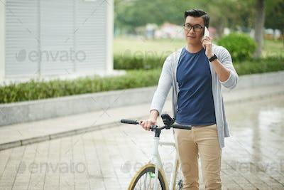 Asian cyclist