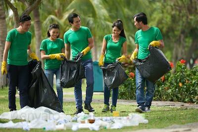 Enjoying being volunteer