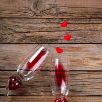 Red Wine .Holiday Valentine Day.Greeting Card,Gift.