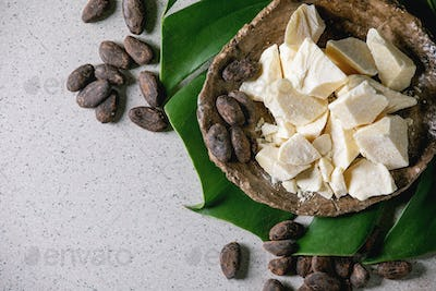 Chopped cocoa butter