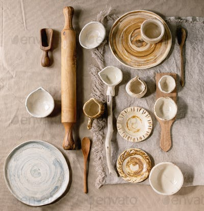 Variety of ceramic dishes