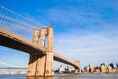The Brooklyn bridge, New York City, USA