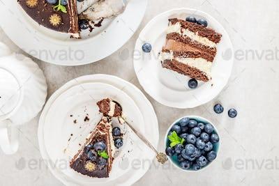 Dessert Menu Belgian Chocolate Layered Gateau