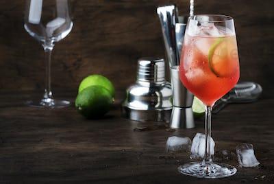 Campari tonic alcohol cocktail