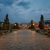 Prague in night