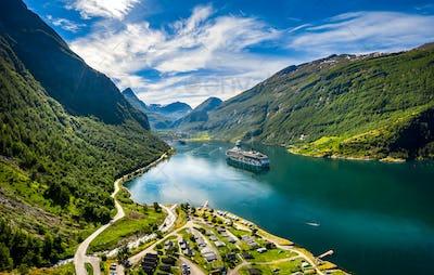 Geiranger fjord, Beautiful Nature Norway.