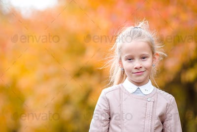Autumn time. Little kid in fall