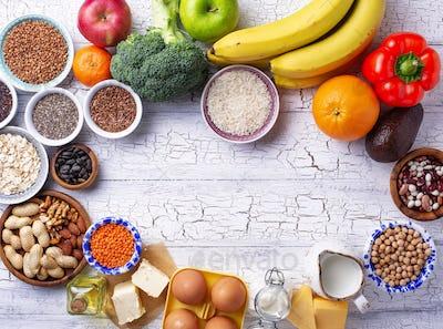 Ovo-lacto vegetarian healthy diet concept