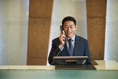Vietnamese receptionist