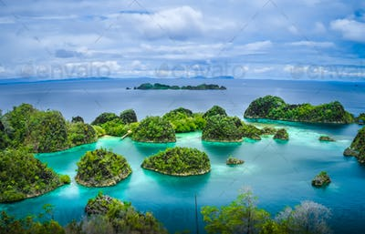 Pianemo Islands, Raja Ampat, West Papua, Indonesia