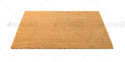 Blank Welcome Mat Isolated on White Background