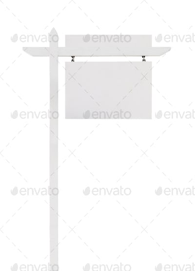 Blank Real Estate Sign with Upper Placard Ready For Your Own Text.