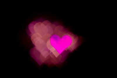 Abstract light, bokeh pattern in heart shape