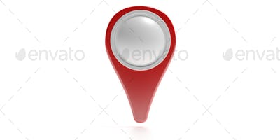 Map marker isolated on white background. 3d illustration