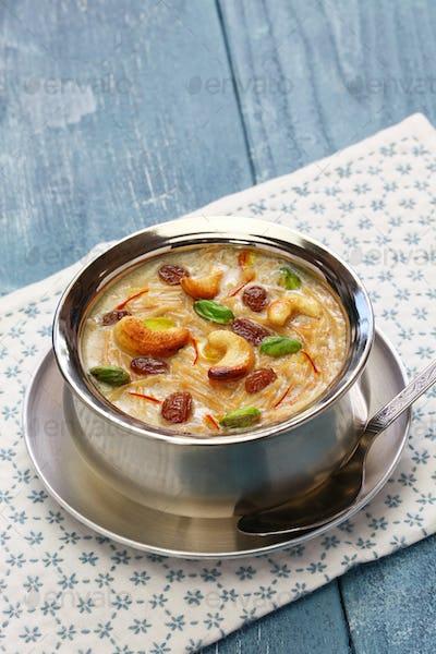 semiya payasam, indian vermicelli kheer with coconut milk