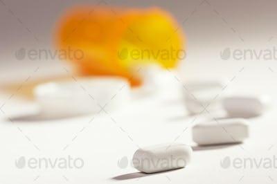 Pills and Fallen Bottle