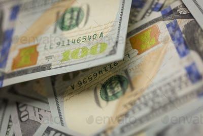Abstract Detail of Newly Designed United States One Hundred Dollar Bill