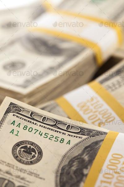 Stacks of One Hundred Dollar Bills
