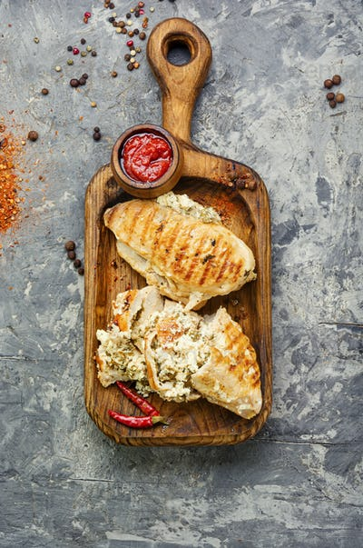 Homemade grilled chicken breast