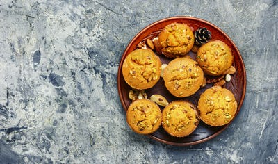 Fragrant homemade cakes, muffins.