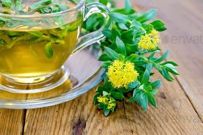 Herbal tea and Rhodiola rosea on board