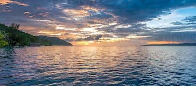 Sunset Sky over Kri and Monsuar, West Papuan, Raja Ampat, Indonesia