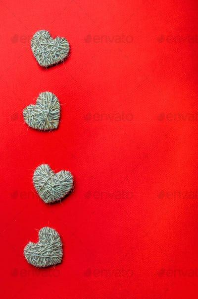 Zero waste Valentine's Day concept, copyspace, red