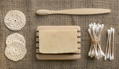 Soap Eco, bamboo toothbrush, natural brush Eco cosmetics products and tools