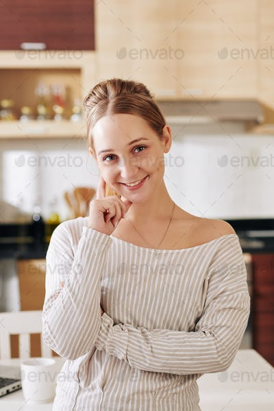 Charming Woman At Home Portrait