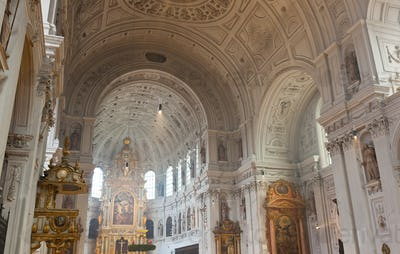 Interior of the St. Michael Church in Munich