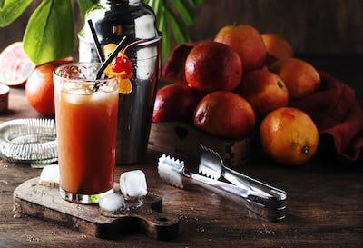 low alcoholic cocktail with vodka, orange juice