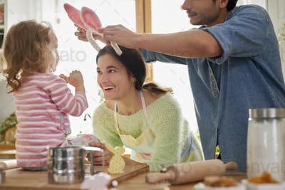 Great fun during preparing some food for Easter