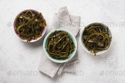 Seaweed salad with sesame seeds