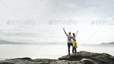 Couple enjoying the view