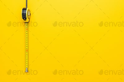 Tape Measure On The Yellow