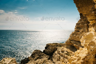 view of the sea from the Sevastopol battery