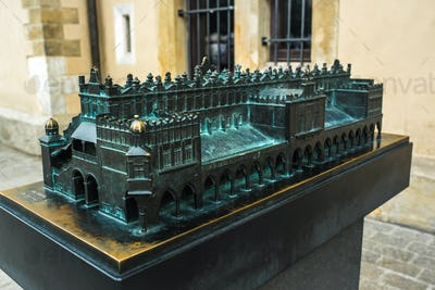 bronze cast miniature  of Krakow in Poland