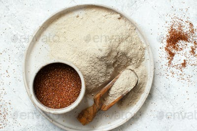 Teff flour and teff grain