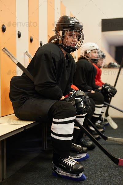Female Hockey Team Before Match