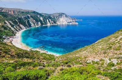Myrtos Bay and Beach on Kefalonia Island, Greece