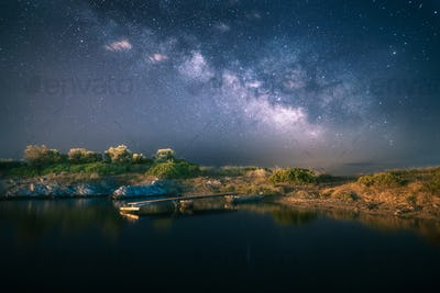MilkyWay Over Lake