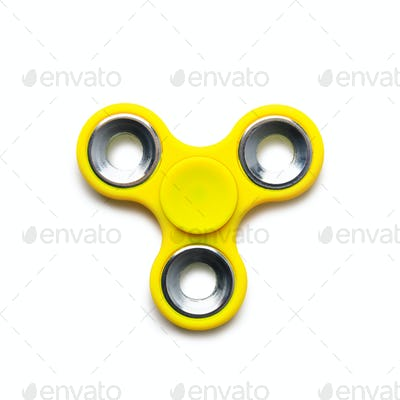 Yellow spiner isolated