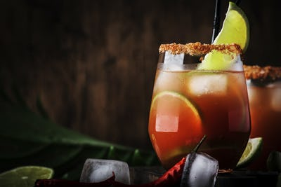Mexican alcoholic cocktail with beer