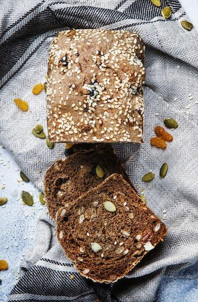 Whole wheat organic rye bread