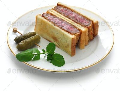 beef katsu sandwich, japanese food