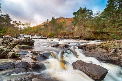 The Falls of Dochart at Killin on the western edge of Loch Tay